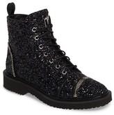 Giuseppe Zanotti Women's Glitter Combat Boot