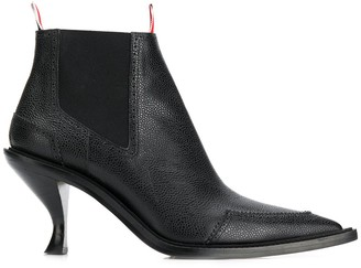 Thom Browne Brogue-Detail 90mm Ankle Boots