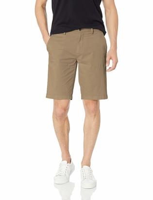"Goodthreads Amazon Brand Men's Slim-Fit 11"" Inseam Flat-Front Comfort Stretch Chino Shorts"