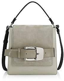 Proenza Schouler Women's Buckle Leather & Suede Box Bag