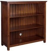 Beadboard 3-Shelf Bookcase, Rustic Chestnut