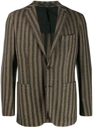 Tagliatore slim-fit striped blazer