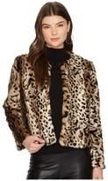 BB Dakota McKinley Leopard Faux Fur Jacket