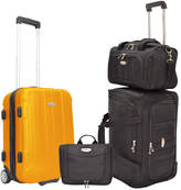 Traveler's Choice Travelers Choice Rome 4Pc Carry-On Luggage Set