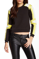 Gracia Colorblock Embossed Sweatshirt