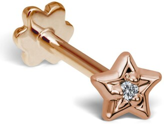 Maria Tash Diamond Solitaire Star Threaded Stud Earring