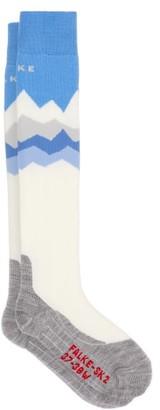 Falke Sk2 Crest Skiing Socks - Blue Multi