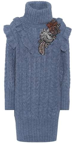 Miu Miu Crystal-embellished sweater dress
