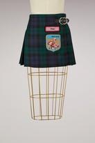 Miu Miu Buckled tartan skirt