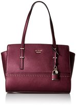 GUESS Devyn Satchel Bordeaux