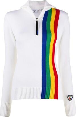 Rossignol x JCC striped zip jumper