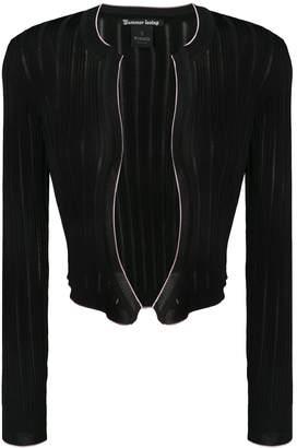 Pinko cropped ribbed knit cardigan