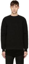 Balmain Black Matelassé Sweatshirt