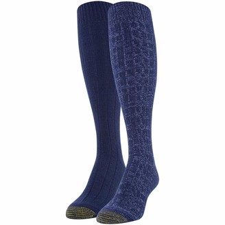 Gold Toe Women's Recycled Soft Cable Knee Highs 2 Pairs