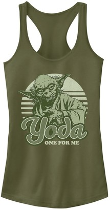 Disney Junior's Disney's Star Wars Yoda One For Me Retro Racerback Tank