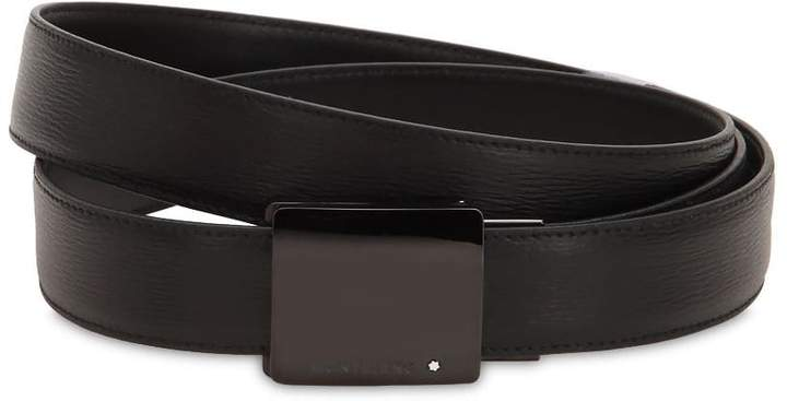 Montblanc 30mm Classic Line Leather Belt