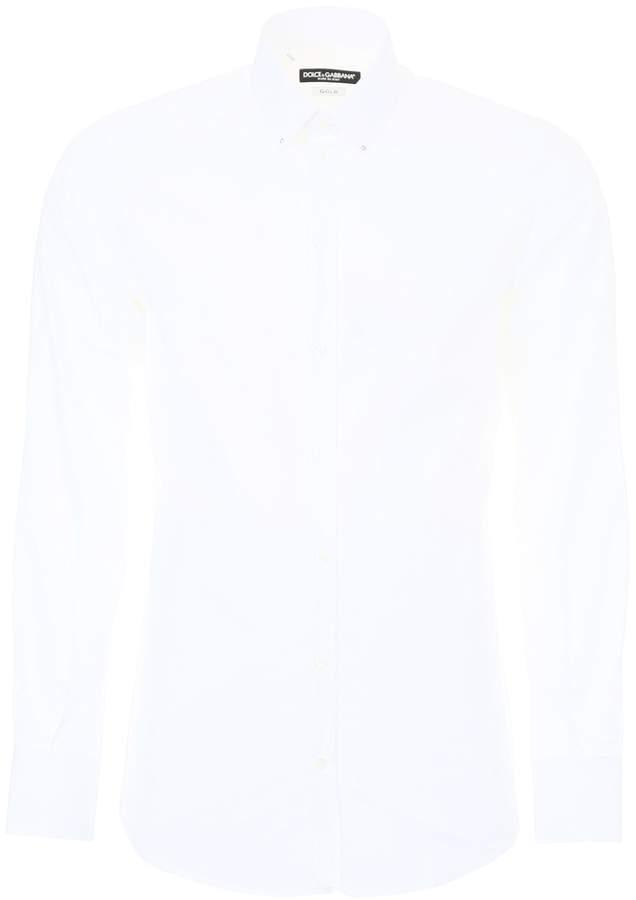 Dolce & Gabbana Cotton Gold Shirt