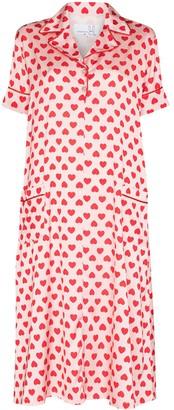 Natasha Zinko Heart-Print Midi Shirtdress