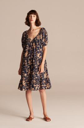 Rebecca Taylor La Vie Talita Trellis V-Neck Dress