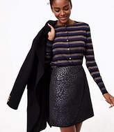 LOFT Shimmer Splash Wrap Skirt