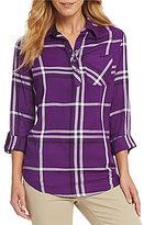 Westbound Petites One Pocket Popover Shirt