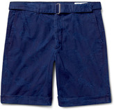 Officine Generale Julian Slim-Fit Cotton-Jacquard Shorts