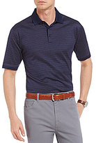 Hart Schaffner Marx Horizontal-Stripe Short-Sleeve Polo Shirt