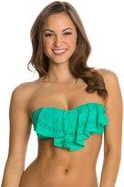 Jessica Simpson Sea Glass Flounce Crop Bikini Top 8124018