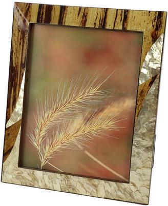 Uma Enterprises Inlaid Gold Capiz Shell & Banana Wood Picture Frame
