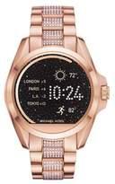Michael Kors Access Stainless Steel Bradshaw Touchscreen Pave Bracelet Smartwatch