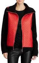 Lauren Ralph Lauren Petite Quilted Front Fleece Jacket