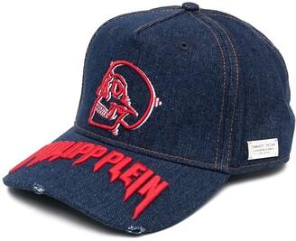 Philipp Plein Logo-Embroidered Denim Baseball Cap
