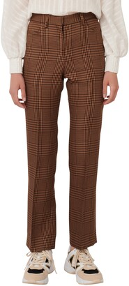 Maje Glen Plaid Pants