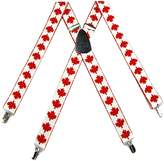 Buy Your Ties Mens Canadian Flag Suspender Made in USA