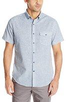 Nautica Men's Slim Fit Geo Print Short Sleeve Shirt