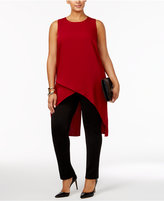 Alfani Plus Size High-Low Crossover Tunic, Only at Macy's