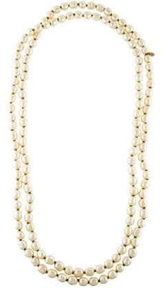 Chanel Faux Pearl Bead Strand Necklace