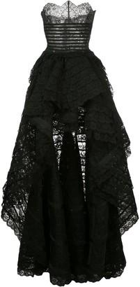 Oscar de la Renta Lace-Details Asymmetric Gown