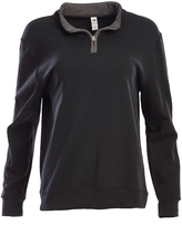 Fruit of the Loom Black & Charcoal Quarter-Zip Pullover - Women