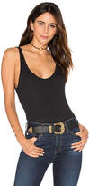 Free People Boy Babe Bodysuit in Black
