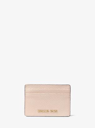 MICHAEL Michael Kors MK Pebbled Leather Card Case - Soft Pink - Michael Kors