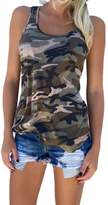 Zhhmeiruian Outdoor Womens Special Vest Casual Camouflage Camo Sports Tops