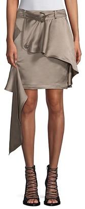 Each X Other Asymmetric Khaki Mini Skirt