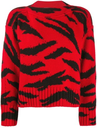 Philosophy di Lorenzo Serafini Animal Pattern Wool Sweater