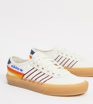 adidas Delpala Happy Camping trainers in off white exclusive to ASOS
