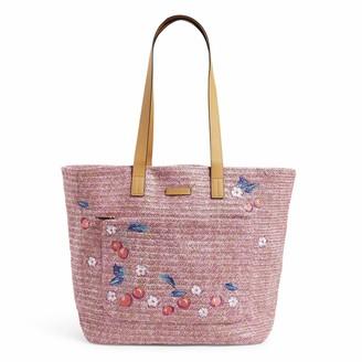 Vera Bradley Women's Front Pocket Straw Tote Bag