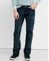 Express straight leg loose fit dark wash jeans