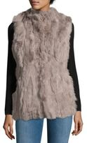 La Fiorentina Dyed Rabbit Fur Sleeveless Vest