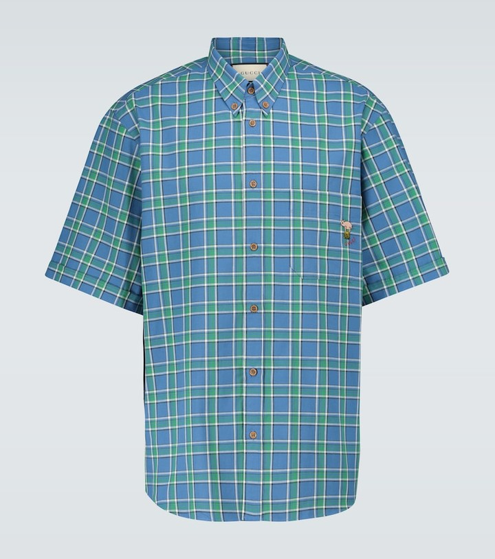 Gucci Short-sleeved checked shirt