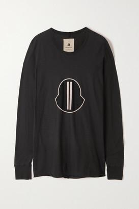 Moncler + Rick Owens Printed Cotton-jersey T-shirt - Black